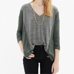 Madewell All Around Long Sleeve Tee in Colorblock